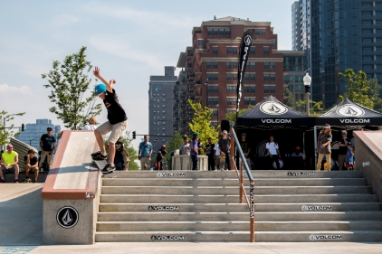 Smith Grind at Grant Skate Park in Chicago, Illinois