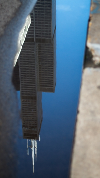 Reflection of Willis Tower in Chicago, Illinois